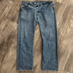 Vtg 1991-2002 Levi's 501 Button Fly Jeans 38 X 30